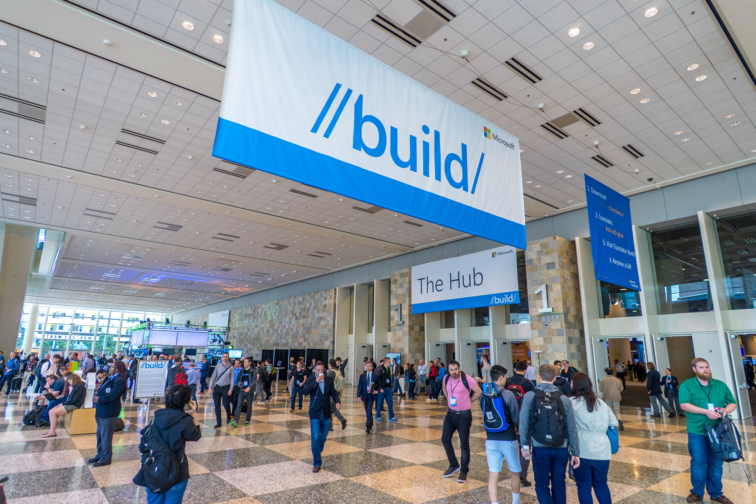 Microsoft Build 2016 Lubby